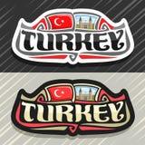 Logo de vecteur pour le pays de la Turquie Photo libre de droits