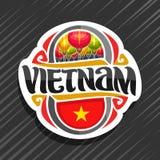 Logo de vecteur pour le Vietnam Photographie stock