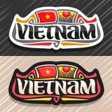 Logo de vecteur pour le Vietnam Photos stock