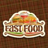 Logo de vecteur pour les aliments de préparation rapide illustration stock