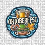 Logo de vecteur pour Oktoberfest Photo stock