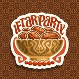 Logo de vecteur pour Ramadan Iftar illustration de vecteur