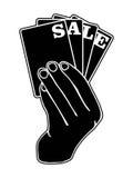 Logo de vente Image stock