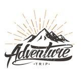 Logo de vintage d'aventure illustration stock