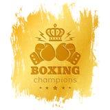 Logo de vintage pour la boxe Photographie stock