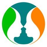 Logo de visage de miroir illustration libre de droits