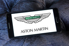 Logo de voiture d'Aston Martin Photos libres de droits