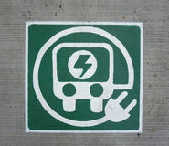 Logo de voiture d'Eletric Photos libres de droits