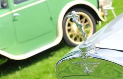 Logo de voiture de vintage d'Austin Images libres de droits