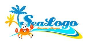 Logo de voyage de vacances Photographie stock libre de droits