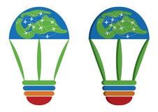 Logo de voyage du monde d'idée Image libre de droits