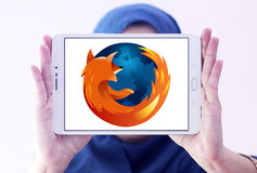 Logo de web browser de Firefox photo stock
