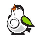 Logo de webcam de mésange Illustration de Vecteur