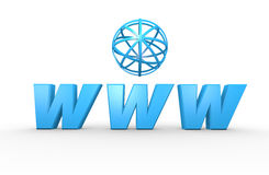 Logo de World Wide Web Photos libres de droits