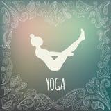 Logo de yoga Photo libre de droits
