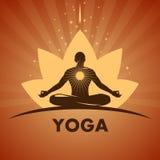 Logo de yoga Photos libres de droits