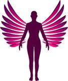 Logo debout d'ange illustration de vecteur