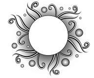 Logo decorativo del sito Web delle viti Fotografia Stock