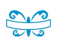 Logo 2 degli accessori della farfalla Fotografia Stock