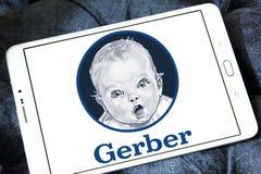 Logo degli alimenti per bambini di Gerber fotografie stock libere da diritti