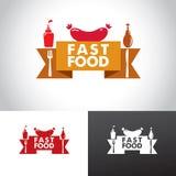 Logo degli alimenti a rapida preparazione Fotografia Stock Libera da Diritti