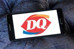 Logo degli alimenti a rapida preparazione del dq della regina della latteria Fotografia Stock Libera da Diritti