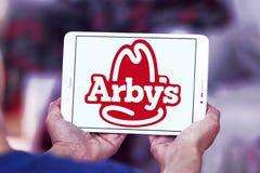 Logo degli alimenti a rapida preparazione di Arbys Fotografia Stock