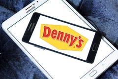 Logo degli alimenti a rapida preparazione di Dennys Immagine Stock