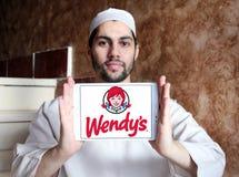 Logo degli alimenti a rapida preparazione di Wendys immagine stock libera da diritti