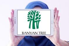 Logo degli hotel dell'albero di banyan Immagini Stock Libere da Diritti