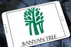 Logo degli hotel dell'albero di banyan Fotografie Stock Libere da Diritti