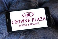 Logo degli hotel della plaza di Crowne Immagine Stock Libera da Diritti