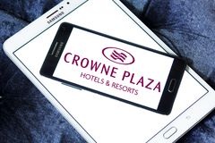 Logo degli hotel della plaza di Crowne Fotografia Stock