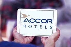 Logo degli hotel di Accor Fotografie Stock