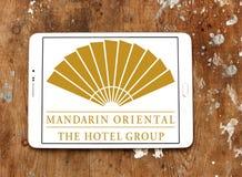 Logo degli hotel di Mandarin Oriental Fotografia Stock Libera da Diritti