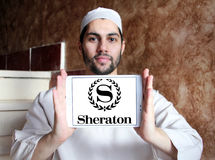 Logo degli hotel e delle località di soggiorno di Sheraton Fotografie Stock