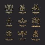 Logo degli insetti illustrazione vettoriale