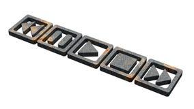 Logo dei bottoni di media Fotografia Stock Libera da Diritti