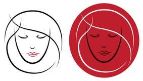 Logo dei capelli Fotografie Stock