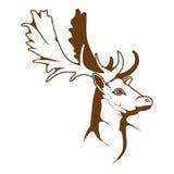 Logo dei cervi Immagine Stock