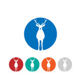 Logo dei cervi Immagini Stock