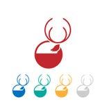 Logo dei cervi Fotografie Stock Libere da Diritti