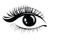 Logo dei cigli Capelli stilizzati Linee astratte di forma triangolare Illustrazione in bianco e nero di vettore illustrazione di stock