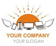Logo dei computer e dei dispositivi di volo nel vettore Immagine Stock Libera da Diritti