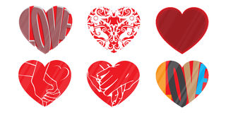 Logo dei cuori di amore, vettore Fotografie Stock