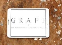 Logo dei diamanti di Graff Immagini Stock
