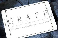 Logo dei diamanti di Graff Fotografia Stock