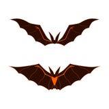 Logo dei pipistrelli Fotografia Stock Libera da Diritti