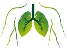 Logo dei polmoni di Eco Fotografia Stock