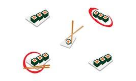 Logo dei sushi illustrazione vettoriale